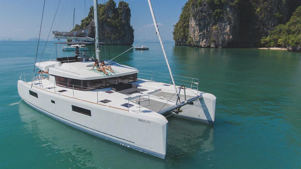 Catamaran Rental Phuket Lagoon 52f For Charter Boat In The Bay