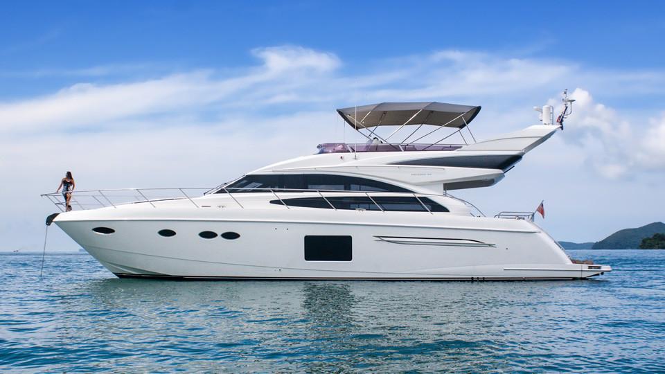 Princess Yacht Charter Phuket Princess 64 Boat In The Bay Phuket