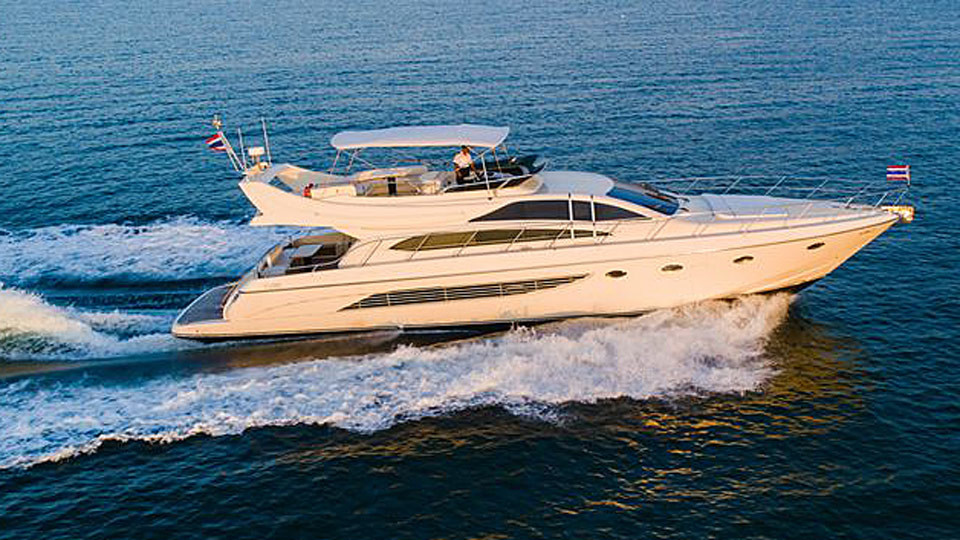 Riva 70 Motor Yacht Charter Phuket - Boat in the Bay