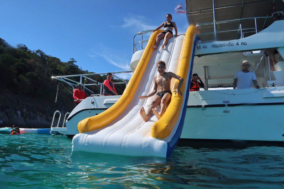 Yacht Charter Toys in Phuket: Water Slide