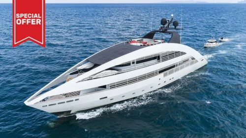 Rodriquez 41m Superyacht Charter Phuket: under way
