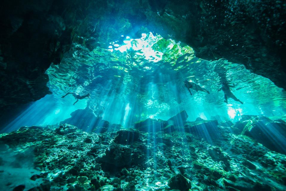 Types of diving: cave diving