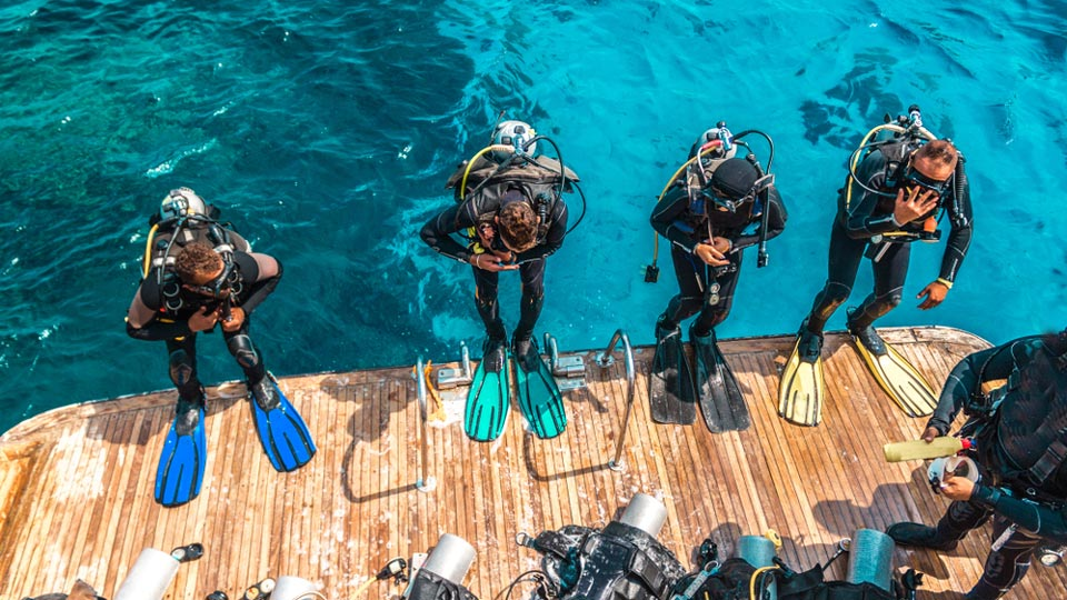 Diving on a private yacht charter