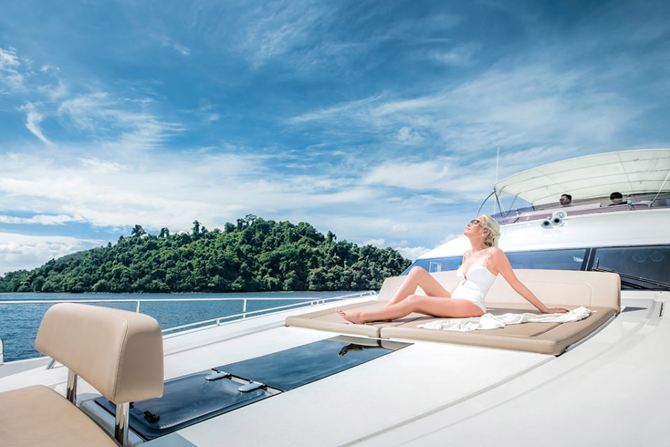 Luxury yacht in Phuket high season